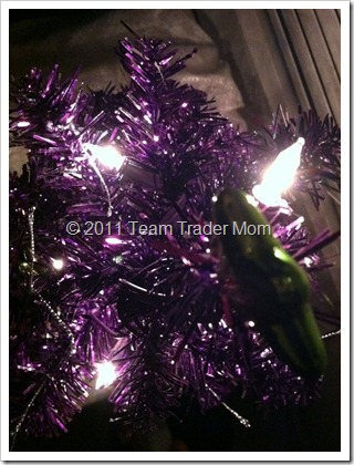 festive purple tree