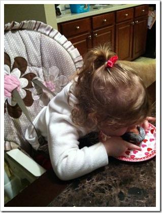 eating cupcake